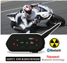 1200M Bluetooth Interphone Headset Motorbike Motorcycle Rider Helmet Intercom FM