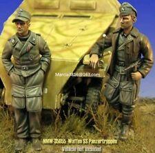1/35 WW2 German Waffen SS Soldiers WWII Resin Model Kit figures (2 Figures)