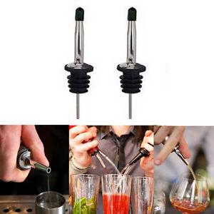 2pcs Whisky Liquor Wine Oil Bottle Pourer Stopper Pour Spout Dispenser with Cap