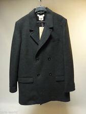Button Wool Full Length Outdoor Coats & Jackets for Women