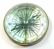 Antique Maritime Brass Lens 3'' Vintage Nautical Table Decorative Compass
