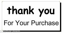 500+ Thank You! (Black) Pre-Printed Self Adhesive Mail Stickers/Labels on ROLL