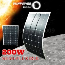 200 Watt 200W 18V 18 Volt Monocrystalline Semi-flexible Bendable Solar Panel RV