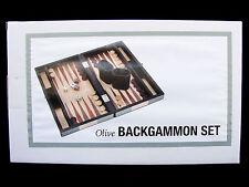 Olive Backgammon Game Set,  New in Box