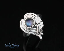 White Moonlight - 18K(750) White Gold Moonstone Design Ring