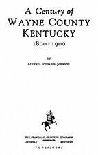 Genealogy & History of Wayne County Kentucky KY