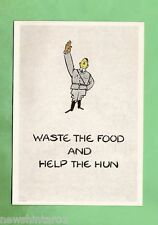 IMAGES OF WAR POSTER CARD - WWII, DO NOT WASTE FOOD, UK