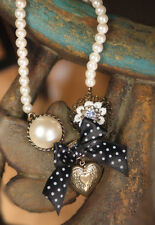Isabella's Journey Bow & Heart Pearl Necklace