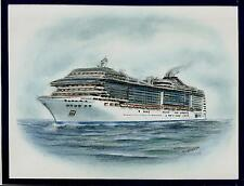 Original Art Work ... MSC  DIVINA... MSC cruises... cruise ship.