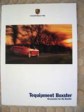 PORSCHE OFFICIAL BOXSTER BOXSTER S TEQUIPMENT BROCHURE 2001 USA EDITION