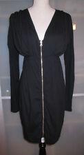 LA MADE Black Zip Up Tunic Shirt Dress Maternity Small Medium NWT