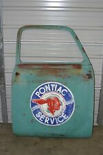 1950 Chevy Pickup Door Pontiac Service Hand Painted Sign Man Cave Artwork Poncho