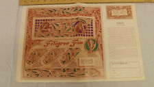 Vtg Craftaid Doodle Page Filigree Fun Series 6/12 by Al Stohlman