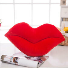 Lip Plush Backrest Pillow Filled Cushion Soft Stuffed Throw Waist Cushion Doll