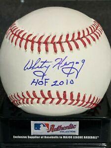 WHITEY HERZOG  ST. LOUIS CARDINALS  HOF 2010  SIGNED OML BASEBALL