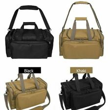Tactical Gun Range Bag Shooting Duffle Bags for Handguns Lockable Zipper Black