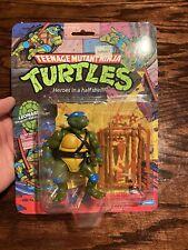 1988 Vintage TMNT Ninja Turtles Leonardo 10 Back Sealed Super Nice AFA?!