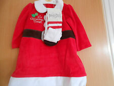 Baby Girls  Christmas Santa Dress with Tights, George, 0-3 Months,BNWT