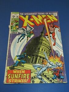 X-men #64 Silver age 1st Sunfire Hot Key Neal Adams Restapled