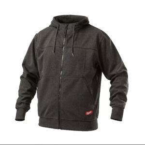 NWT Milwaukee No Days Off Gray Black Hooded Sweatshirt size Medium 311B-M