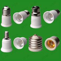 LIGHT SOCKET ADAPTOR CONVERTER EXTENDER HOLDER ES LAMP to E27 SES E14 BC B22 E40