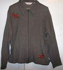 Bechamel 2- Piece Skirt & Jacket  Black & Gray Geometric Floral Design Size PL