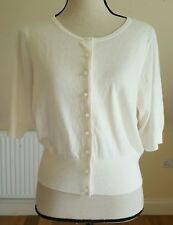 Boden Fifties Cardigan in Ivory (WU011) - UK 16 - RRP £49.50