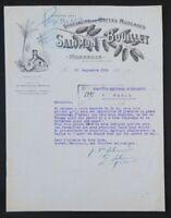 Facture 1924 MARSEILLE  DATTE MUSCADE SALOMON BOUILLET illustrée 66