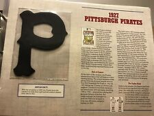1927 PITTSBURGH PIRATES PATCH WILLABEE & WARD 125 YEARS OF BASEBALL