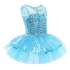 Mädchen Kinder Glitzer Ballettkleid Ballettanzug Tutu Tütü Trikot Tanzkleid Neu