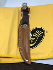 Case M3Fin Hunting Fixed XX Blade Knife Leather Handle W/Sheath
