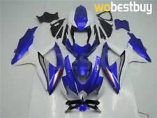 Blue White Fairing For K8 Suzuki GSXR 600/750 2008-2010 Injection Plastics dD9