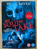 My Soul To Take 2010 Wes Craven Slasher Horror Film UK DVD w/ Slipcover