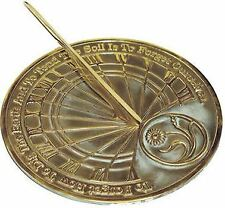 Gardener's Reflection Sundial - Solid Brass w/Verdigris Highlights