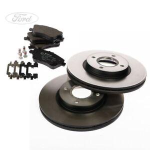 Genuine Ford Front Fiesta Mk7 Mk8 Front Brake Pads & Discs 258mm Vented 1679853