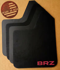 [SR] STARTER Mud Flaps Set BLACK w/ BRZ Vinyl Logo for Subaru BRZ / Scion FR-S