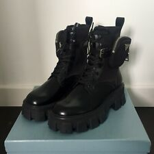 Prada Leather and Nylon Boots, Black, Size EUR40 / US9