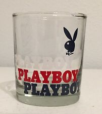 "Playboy Whiskey Scotch Glass Cup 4"" Tall Sophisticated"