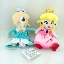 "2X Super Mario Bros Princess Peach Rosalina Plush Toy Stuffed Anime Pink Blue 8"""