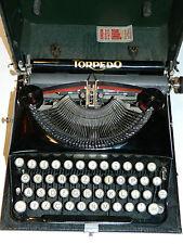 VINTAGE ancien MACHINE à ECRIRE Schreibmaschine TORPEDO weil-werke frankfurt.a.m