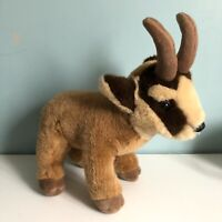 "CP International Brown Goat Soft Toy Plush With Horns 13"" Tall VGC"