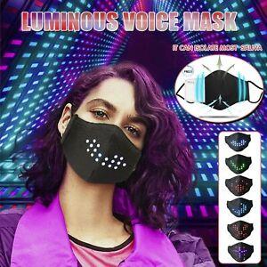 LED Sound Control Voice Activated Luminous Face Shield Party Festival Decoration