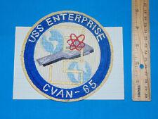 Korea-Vietnam War USN Navy Patch, USS ENTERPRISE CVAN-65 (#1004)