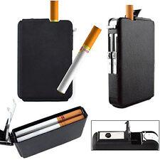 Automatic WindProof Lighter Pocket Ejection Butane Cigarette Case Box Convenient
