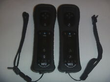 Official Nintendo Wii & U Remote Controller Motion Plus Set Lot Of 2 Black