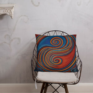 Soft Throw Pillow, Unique Art, Decorative and Colorful, Sultry Zen