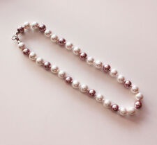 Noble Jewel Beautiful 12mm White And Purple Pearl Necklace