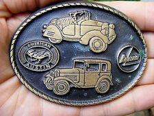 Vtg AMERICAN AUSTIN Belt Buckle CAR Bantam JEEP Willys HOT ROD LOGO RARE VG++