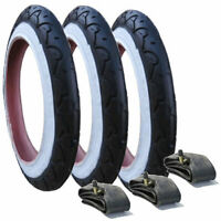 3 x Phil & Teds Tyre and Tubes Whitewall White Wall - 12 1/2 x 1.75 - 2 1/4