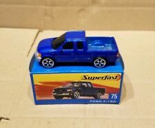 Matchbox superfast Ford f-150 pick-up , blue body toy model car,mint in box